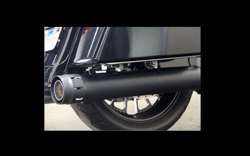 "FireBrand Designs Loose Cannon 4"" Slip Ons for '95-16 FL Models -Black"