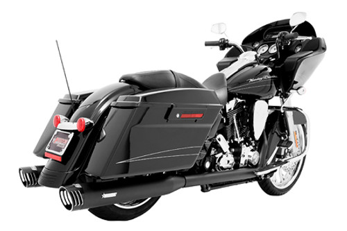 Freedom Performance Exhaust Racing Dual System  for '09-16 FLH/FLT -Black