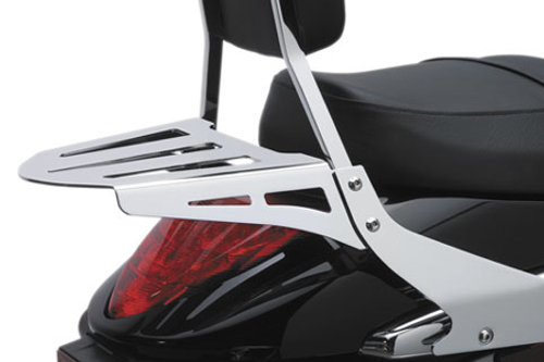 Cobra Flat Laser-Cut Luggage Rack for XL '04-Up (Fits Cobra bars only)
