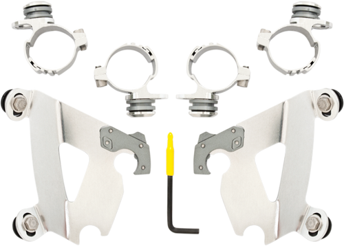 Memphis Shades Cafe Fairing Mounting Kit for '10-11 XL 1200C - Polished CAFE FAIRING SOLD SEPARATELY