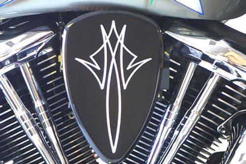 Barons Custom Big Air Kit for Vulcan 900 CL/LT '06 & up, Vulcan 900 Custom '07 & up Pinstripe Black