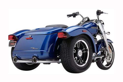 """Cobra  3.5"""" Slip On Freewheeler Mufflers  -Chrome"""