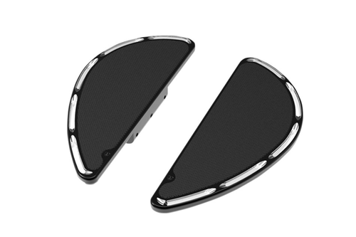 Arlen Ness Fusion Series Adjustable Floorboards for '93-15 FL & H-D Trike Models (Passenger) -Deep Cut, Black