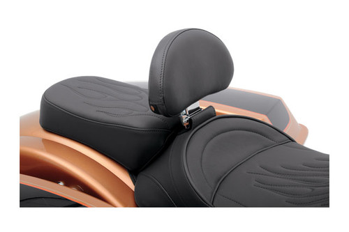 Drag Specialties Optional Pillion Pad for FXD/FXDWG '06-Up Solo Seat -Smooth Backrest is sold separately