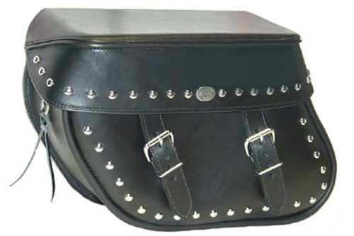 Boss Bags #36 Model Studded on Bag Body and Lid Valence for Harley Models