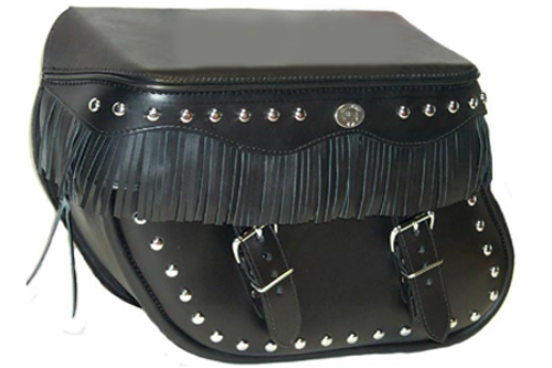 Boss Bags #36 Model Studded Body and Lid w/ Fringed Lid Valence