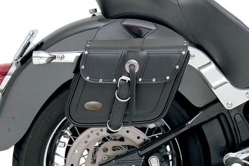 All American Rider Slant Flap Over Style Saddlebags -Medium, Rivet