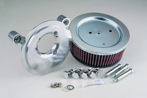 Arlen Ness   Big Sucker Stage II Air Cleaner Assembly for '99-06 Twin Cam Carb and '01-Up Twin Cam Delphi Fuel Injected  Models (ex. '08 FLHT,FLHR,FLHX,FLTR) -Chrome  DOES NOT INCLUDE COVER