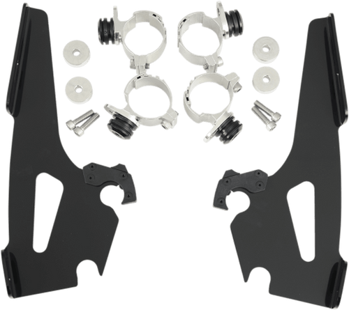Memphis  Shades  Batwing Windshield Mounting Kit for VLX 600  '88-07-Black FAIRING AND WINDSHIELD NOT INCLUDED