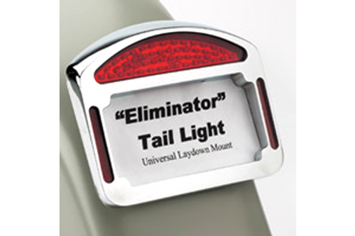 Cycle Visions Eliminator LED Taillight/License Plate Frame -XL '04-Up (Except 883N/1200N) -Chrome