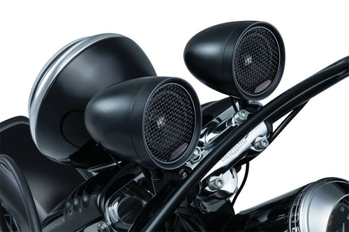Kuryakyn  RoadThunder Speaker Pods and Bluetooth Audio Controller by MTX  - Satin Black