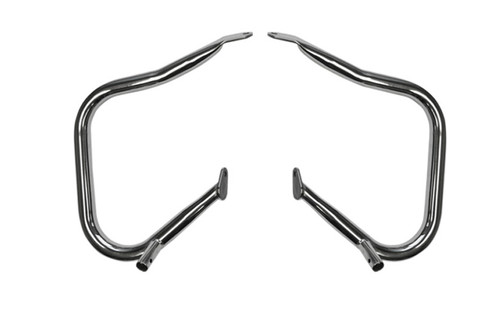 drag specialties big buffalo rear saddlebag bars for 14-up harley davidson - chrome