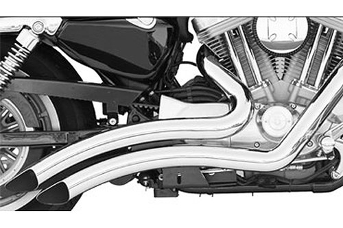 Freedom Performance Sharp Curve Radius Exhaust for 09 16 V Star 950 Chrome