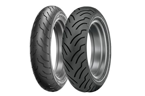 Dunlop American Elite Premium Replacement Tires FRONT-MT90B16 NWS TL 65H  -Each