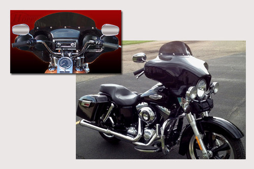 Hoppe Industries Quadzilla Fairing with Audio for '12-16 Harley Davidson FLD Switchback