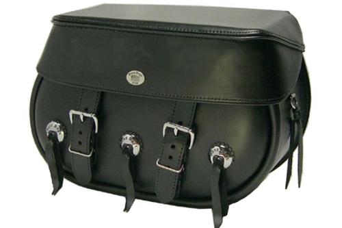 Boss Bags #34 Model Three Conchos on Bag Body for Harley Models