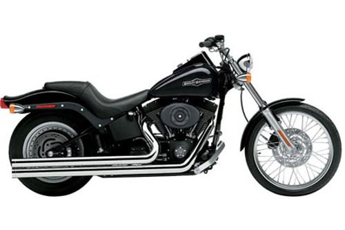 Cobra Speedster Longs  Exhaust with PowerPort for Softail '12-17 Chrome