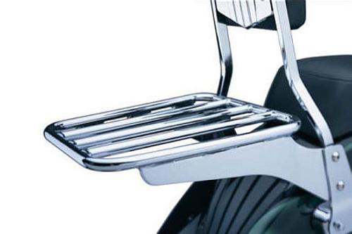 Cobra Luggage Rack for Roadliner '06-Up (Fits Cobra bars only) -Black (Shown in Chrome)