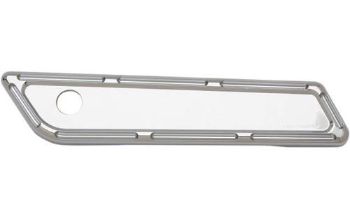 Arlen Ness Billet Saddlebag Latch Covers for '14-15 FLHT/FLHX/FLHR -Chrome, Slot Track