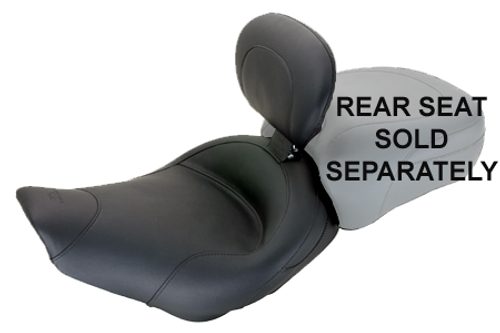 Mustang Seats Solo Seat with Driver Backrest for Harley Davidson Touring Models 2008-Up -Vintage