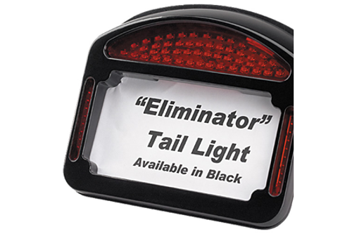Cycle Visions Eliminator LED Taillight/License Plate Frame -FLHT '99-08 -Black