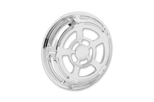 Arlen Ness Front Speaker Grilles for '96-13 FLHT/FLHX & H-D FL Trikes -Slot Track, Chrome Pair