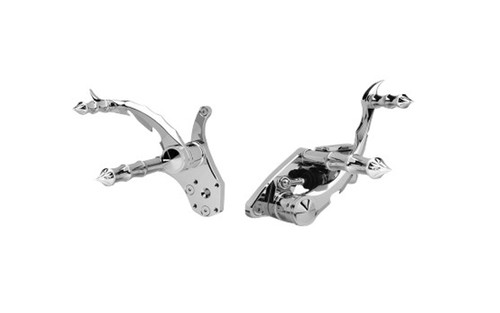 Accutronix Forward Controls w/ Master Cylinder for '84-99 FXST, '85-86 FX/FXWG -Tribal, Chrome