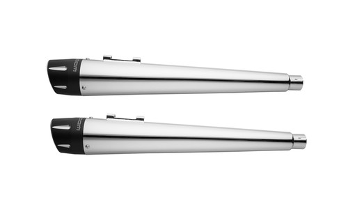 Freedom Performance 4.5 inch Combat Mufflers  for '95-16 FLHT/FLT -Chrome w/ Black Tips