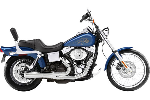 Bassani Road Rage 2-into-1 System for '91-05 FXD/FXDWG w/ Forward or Mid Controls Chrome, Short Style