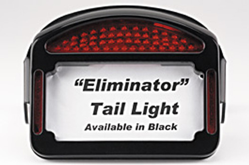 Cycle Visions Eliminator LED Taillight/License Plate Frame - FXDF '08-11 -Black 1