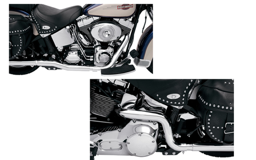 Bassani Power Curve True-Dual  Crossover Header Pipes for '07-17 FXST/FLST  -Chrome