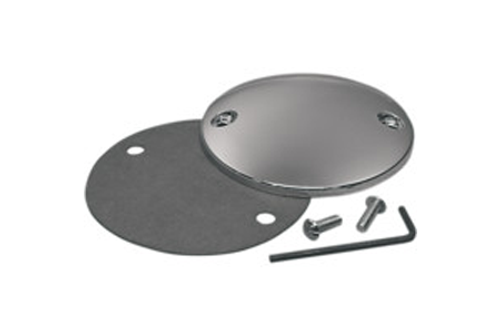 Drag Specialties Chrome Spherical Radius Point Cover for '84-99 Big Twin (except Twin Cam) & '86-Up XL Models