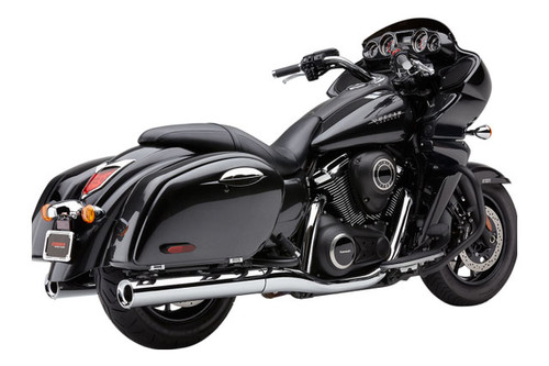 Cobra 4 inch Slip-On Mufflers With Billet Tips for '09-17 Nomad 1700/Voyager & Vaquero 1700