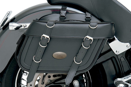 All American Rider Extra-Large Box-Style Detachable Slant Saddlebags -Plain