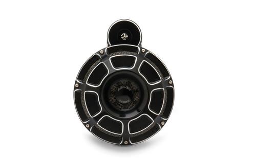 Arlen Ness Horn Kit for '08-14 FLHX -Beveled, Black