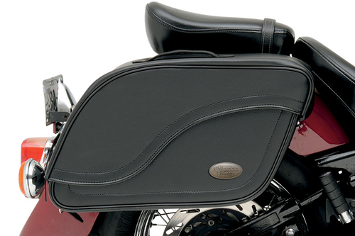 All American Rider Futura 2000 Detachable Slant Saddlebags -XX-Large, Plain