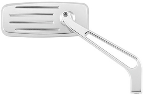 BikeMaster Louver Spear Mirror -Chrome