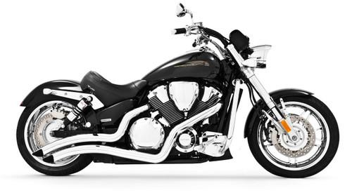 Freedom Performance Sharp Curve Radius Exhaust for '02-08 VTX1800F/R/N -Chrome