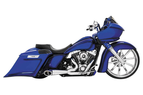 Freedom Performance  2-into-1 Turn Out Exhaust System for Harley Davidson Touring '95-16 - Chrome with Chrome Tip