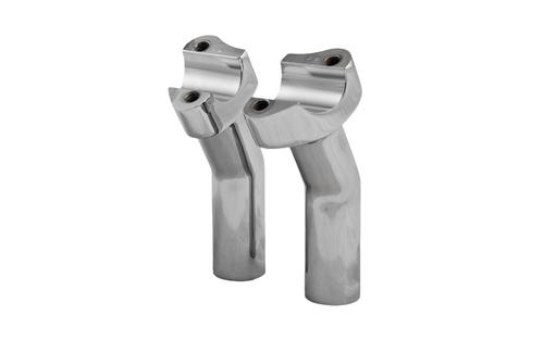 "Hard Drive Forged Handlebar Risers for 1"" Bars -5.5"" Chrome Pullback Style"