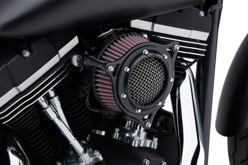 Cobra PowrFlo Air Intake for Harley Davidson Touring Models 2008-2016, Softail & FXDLS 2016-2017 -Black/Black