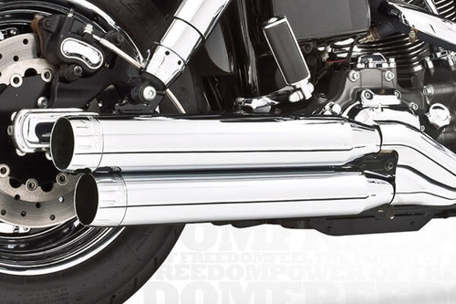 Freedom Performance 3¼ inch Signature Slip Ons  for '91-17 Dynas (Except FXDF,FXDWG,FLD) - Chrome