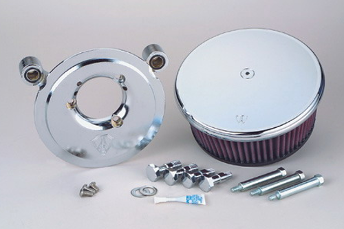 Arlen Ness  Billet Sucker Stage II Air Cleaner Assembly for '99-06 Twin Cam Carb & '01-09 Twin Cam Delphi Fuel Injected Models(ex. '08-up FLHT,FLHR,FLHX,FLTR) -Smooth Style