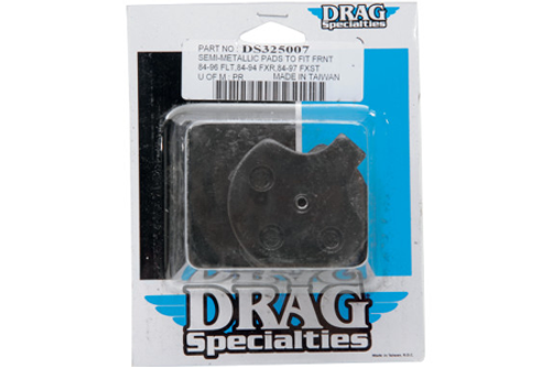 Drag Specialties REAR Semi Metallic Brake Pads for '86-99 FLT,FLHT,FLHS,FLHR,FLTR OEM #42957-86A, 43957-86B/E-Pair