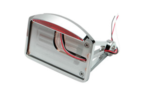 "Drag Specialties Side Mount LED Taillight/License Plate Mounts for '00-07 Softail -Axle Mount (¾""-1""), Flat Horizontal, Half-Moon"