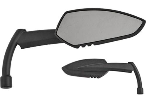 Hard Drive Parts Apache Alloy Mirror w/ Knife Stem Universal Fit -Matte Black