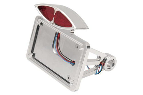"Drag Specialties Side Mount DECO Taillight w/ License Plate Mount for '86-99 FXST/FLST w/ ¾"" Axle Flat Horizontal"