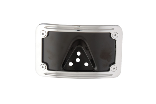Hard Drive License Plate Frame for All H-D Models w/ Standard 3-Bolt Bracket Horizontal, Curved-Rear Mount -Each
