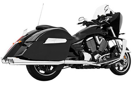 Freedom Performance 4 inch Racing Duals for '08-16 Cross Country, Tour, Magnum, Crossroad/LE -Chrome w/ Chrome Tips