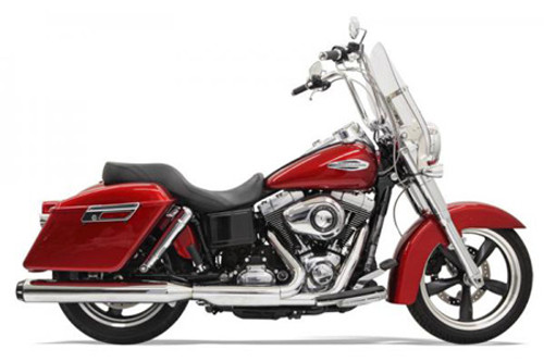 Bassani 4 inch Slip On Quick Change Series Muffler for Dyna Switchback '12-17 END CAPS SOLD SEPARATELY
